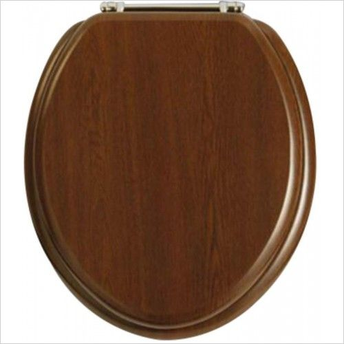 Heritage Soft Close WC Seat Walnut GW101SA